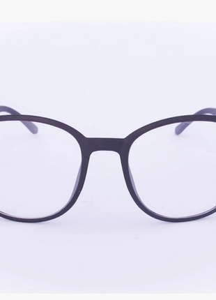 Имиджевые очки в ретро стиле - черные