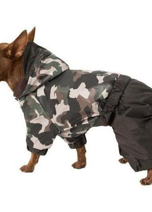 Дождевик для собак камуфляж