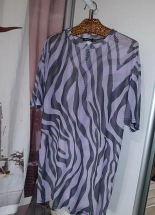 Стильное пляжное  платье сетка boohoo,  s,m