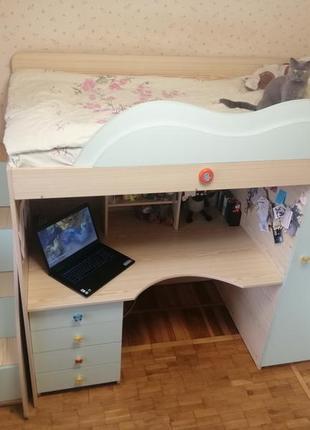 Двухъярусная кровать /стол / шкаф / кровать-чердак