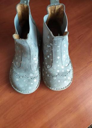 Замшеві ботиночки (натуральная замша) pom pom