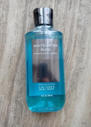 Мужской гель для душа и шампунь whitewater rush