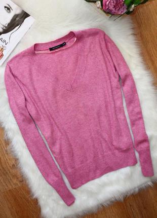 Стильный легкий джемпер пуловер atmosphere в стиле casual цвета пыльной розы