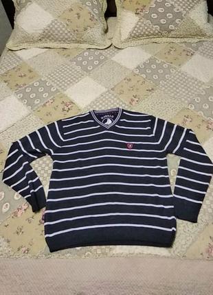 Отличный легкий пуловер, джемпер 50/шерсть
