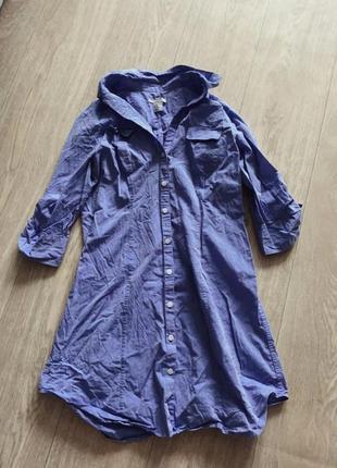 Платье рубашка сарафан длинная рубашка