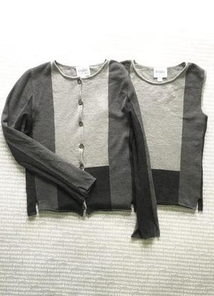 Кардиган топ комплект ferre винтаж трикотажный черный серый купить цена