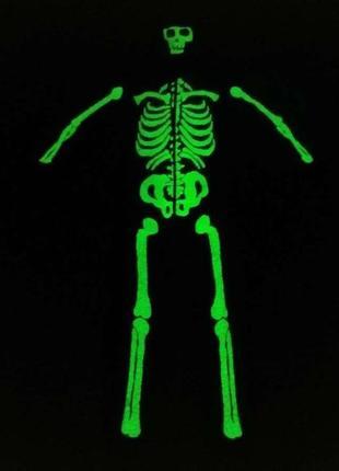 Костюм скелета, светящийся, george, в отличном сост.