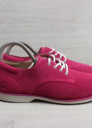 Яркие замшевые туфли timberland оригинал, размер 38