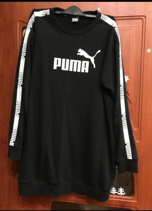 Платье свитшот puma с лампасами