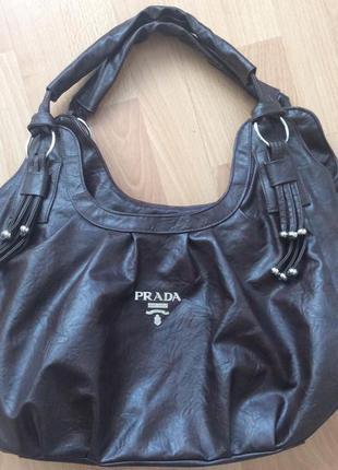 Объемная вместительная сумка prada
