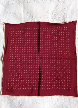 Мужской костюмный носовой платок 100% шелк италия