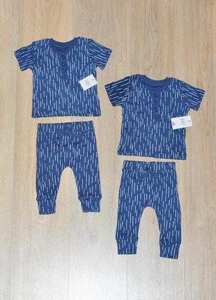 Набор george 0-3 мес. комплект футболка штаны штанишки для двойни близнецов