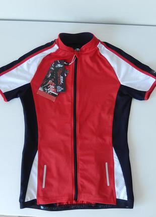Оригинальная вело-футболка на молнии ladies premium cycling shirt small (s)