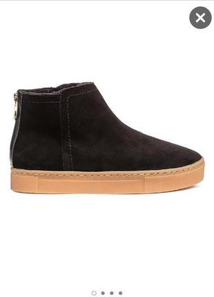 Ботинки зимние 100% замш