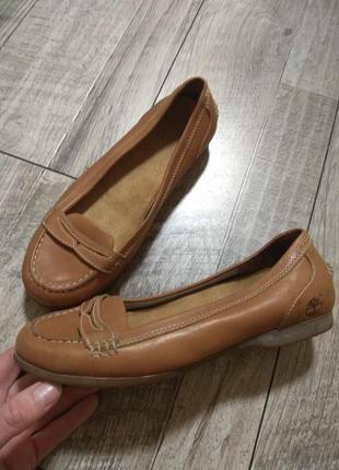 Кожаный женские туфли, топсайдеры, мокасины