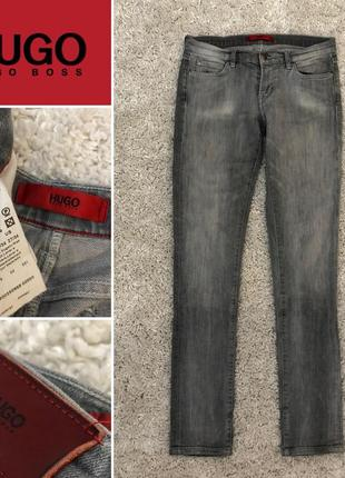 Hugo boss крутые серые джинсы 27/34 оригинал