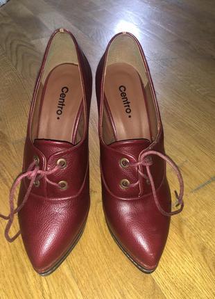 Туфли ботинки на танкетке