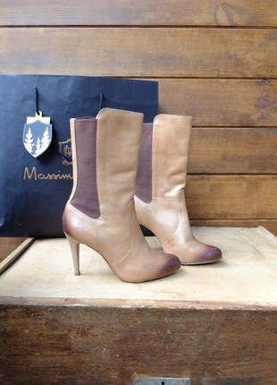 Кожаные ботинки 38,5-39 р. демисезонные полусапожки натуральная кожа бренд dumond