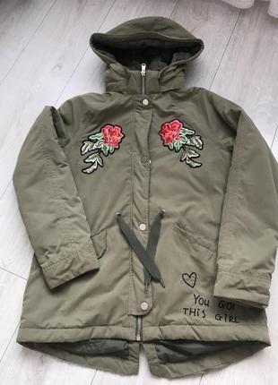 Весняна , осіння курточка парка на дівчинку на ріст 152 , 11-12 років