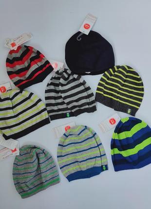 1легкая демисезонная вязаная шапка для мальчика cool club, разные размеры