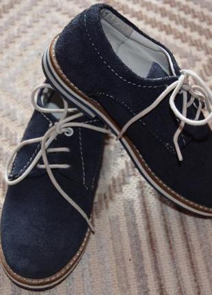 Стильные замшевые туфли на мальчика friboo р.29 (18,5-19 см)