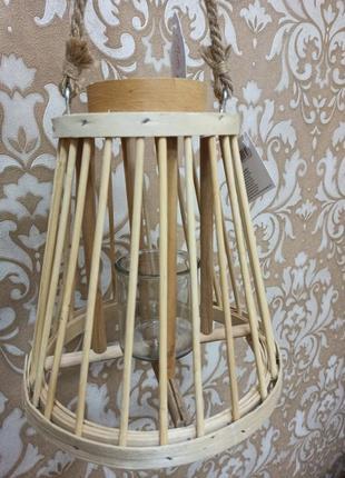 Бамбуковый подсвечник-фонарь