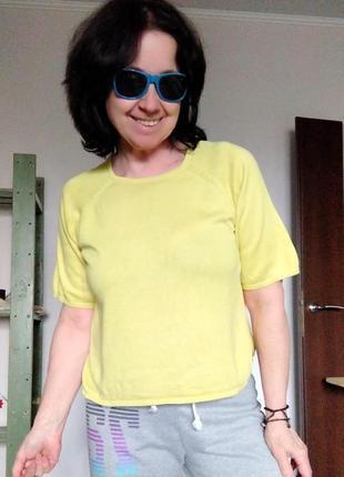 Трикотажная желтая кофточка new look