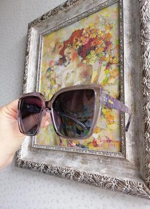 Брендовые очки диор в прозрачной серой оправе с цветными дужками