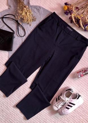 Классические брюки тёмно-синего цвета