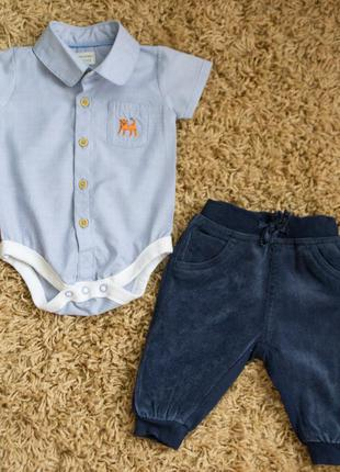 Набор на малыша (боди-рубашка и штаны)