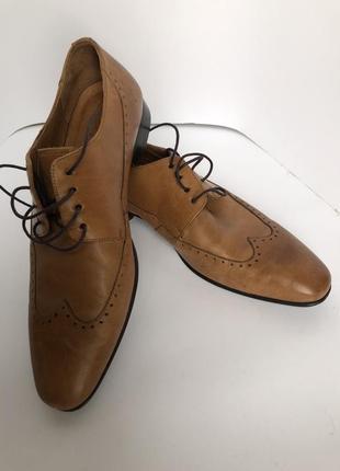 Navyboot р 39 швейцария кожаные броги коричневые мужские туфли оксфорды