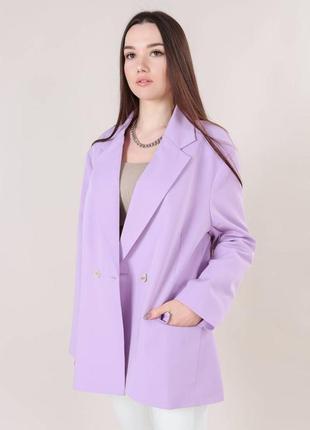 Пиджак  свободного кроя лиловый