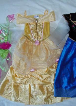 Карнавальные,новогодние платья принцесс,феи на 5-6 лет одним лотом