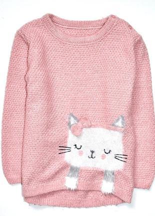 Matalan розовый свитерок  с кошечкой. 4-5 лет