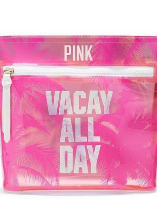 Косметичка victoria's secret pink vacay all day pouch