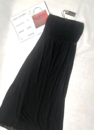 Черный сарафан в пол платье макси