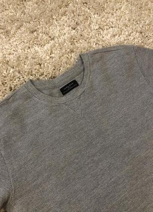 Светло-серый свитер zara man мужская кофта с манжетами2 фото