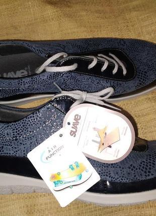 41р -27 см на широкую новые туфли кожа suave made in portugal