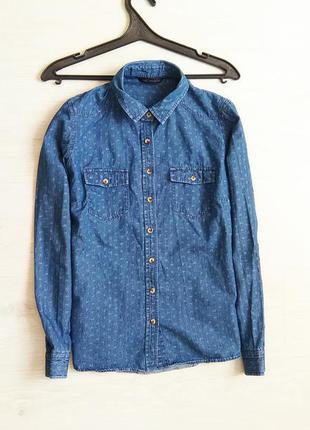 Модная рубашка джинс от m&s