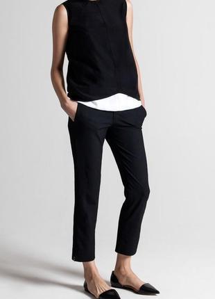 Укороченные брюки с разрезами zara