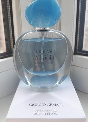 Armani ocean di gioia парфюмированная вода 30мл оригинал