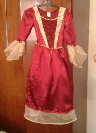 Детское карнавальное платье красавицы бель 9-11 лет