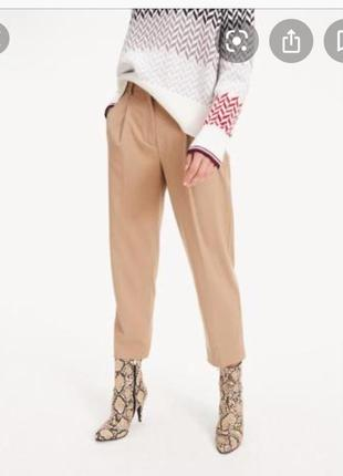 Нові.штани з защипами брендові tommy hilfiger camel pants oригінал