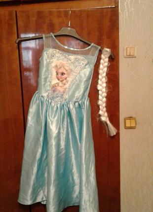 Детский карнавальный костюм принцесса эльза 5-6 лет