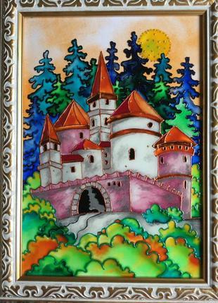 Витражная картина (замок)