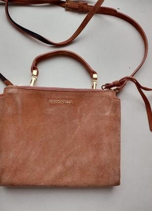 Coccinelle замшевая сумочка, оригинал
