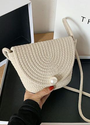 Соломенная сумочка плетёная сумка