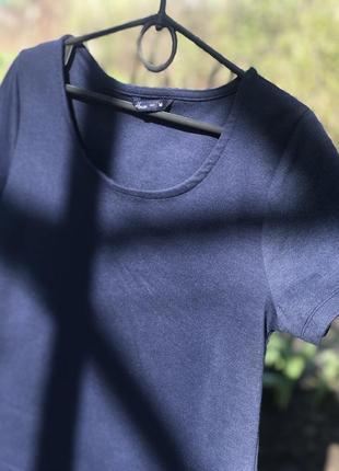 Платье темно синего цвета