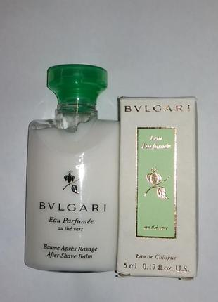 Bvlgari bvlgari eau parfumee au the vert   набор миниатюр