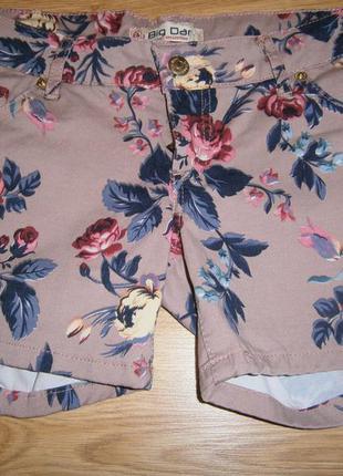 Обалденные шорты пудрового цвета с розами
